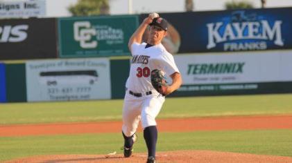 Right-hander Jacob Barnes threw 2.1 scoreless innings of relief in Friday's extra-inning win over Daytona.