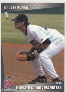 A former second round pick of the Milwaukee Brewers, Josh Murray played five games for the Brevard County Manatees in 2005 and 29 games in 2006.