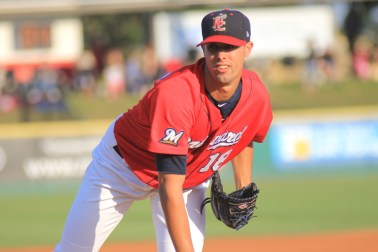 Since May 9, Manatees pitcher Jorge Lopez leads the Florida State League several categories, including ERA and WHIP.