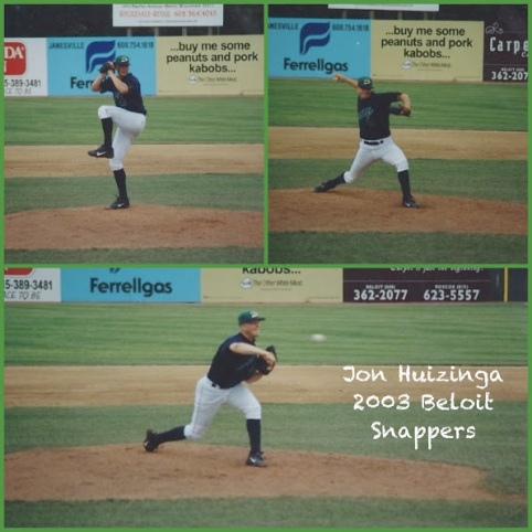 Huizinga made 23 relief appearances for the Class-A Beloit Snappers in 2003.